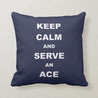 Håll lugn och tjäna som en överdängare, tennis kudde