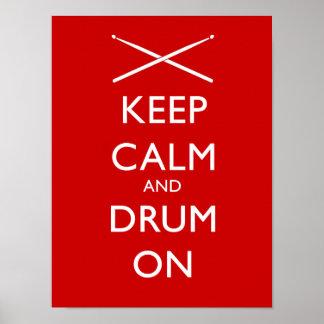 Håll lugn och trumma på poster