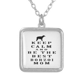 Håll lugn och var den bäst Borzoimamman Anpassningsbara Smycken