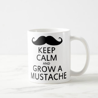 Håll lugn och väx en mustasch muggar