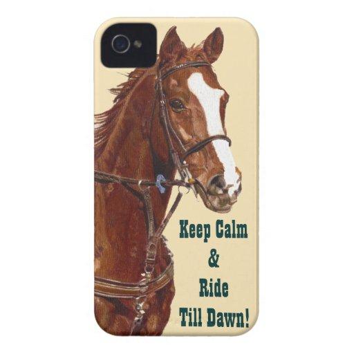 Håll lugn & rida fodral för iPhone 4 för kassalåda iPhone 4 Case-Mate Skydd