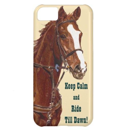 Håll lugn & rida fodral för iPhone 5 för kassalåda iPhone 5C Mobil Skydd