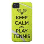Håll lugnaa och för lektennissporten för boll för  Case-Mate iPhone 4 fodraler