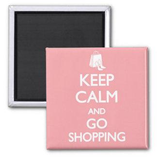 Håll lugnat & gå att shoppa magnet