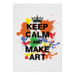 Håll lugnat & gör konstaffischen