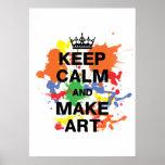 Håll lugnat & gör konstaffischen print