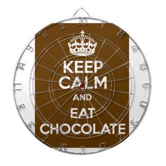 Håll lugnat och äta choklad dart tavlor
