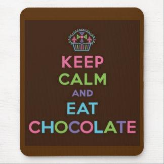 Håll lugnat och äta choklad musmatta