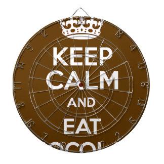 Håll lugnat och äta choklad piltavla