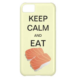 HÅLL LUGNAT OCH ÄTA fodral för SUSHICaseMateiPhone iPhone 5C Fodral