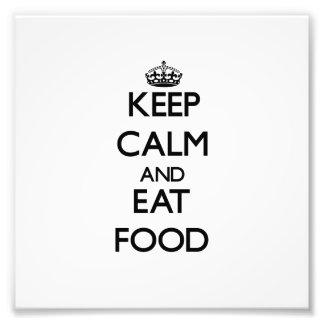 Håll lugnat och äta mat fotografier