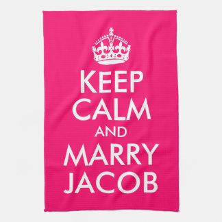 Håll lugnat och att gifta sig Jacob Kökshandduk