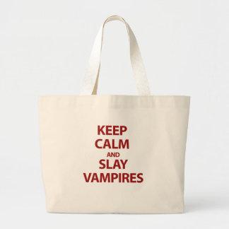 Håll lugnat och dräpa vampyrer tote bags