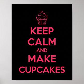 Håll lugnat och gör muffins poster
