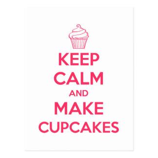 Håll lugnat och gör muffins vykort