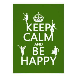Håll lugnat och var lycklig (dansen) (anpassadet) 14 x 19,5 cm inbjudningskort