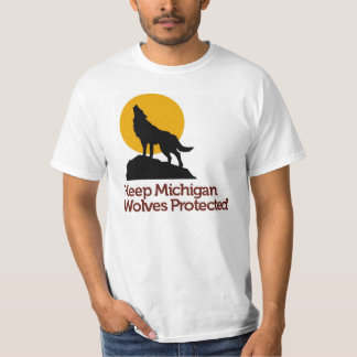Håll Michigan den varger skyddade T-tröja Tshirts
