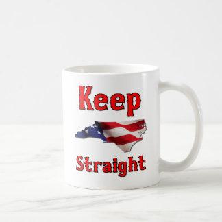Håll North Carolina rak Kaffemugg