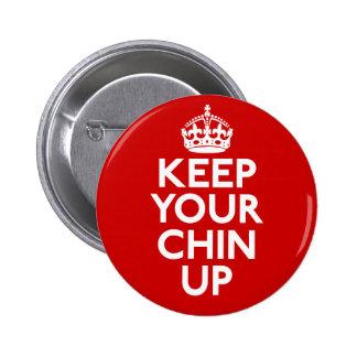 Håll upp din haka för att knäppas knapp