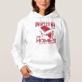"""""""Häll ut något protein…"""", Kvinna #1 Hoodie"""