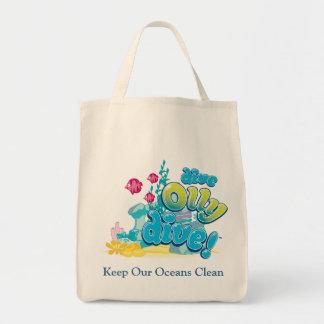 Håll våra hav rena mat tygkasse