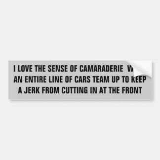 Hålla idioter från klipp i en fodra av bilar bildekal