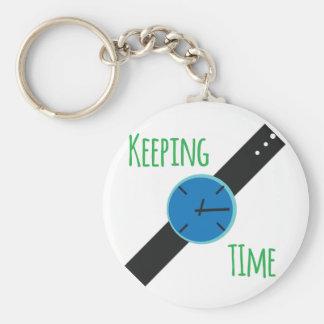 Hålla Time Rund Nyckelring