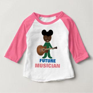 Hållande gitarr för nyckfull baby på RaglanT-tröja Tee