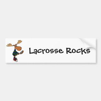 Hållande Lacrossepinne för rolig älg Bildekal