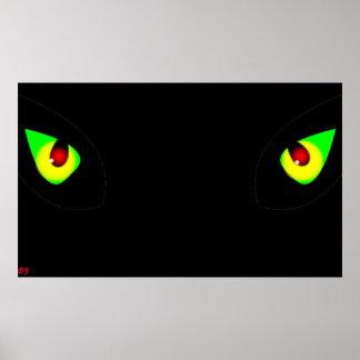 Hållande ögonen på ögon poster