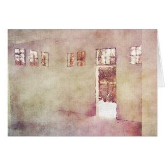 Hållande ögonen på vinter Windows Hälsningskort
