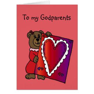 hållande valentin för flickabjörn för hälsningskort