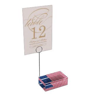 Hållare för kort för amerikanska flagganparty-