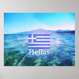 Hallas grekisk pride poster