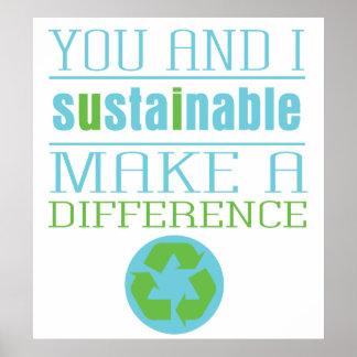 Hållbara dig och I Poster