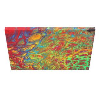 Häller den abstrakt akrylen för regnbåge trycket canvastryck