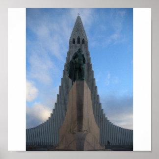 Hallgrímskirkja Reykjavik island Affischer