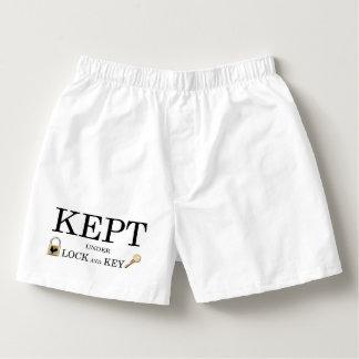 Hållna inlåst kyskhetboxare boxers