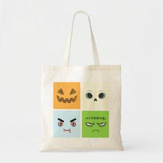 Halloween ansikten budget tygkasse