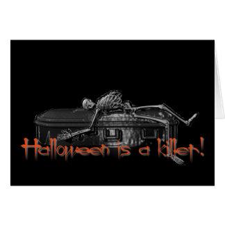 Halloween är en mördare! hälsningskort
