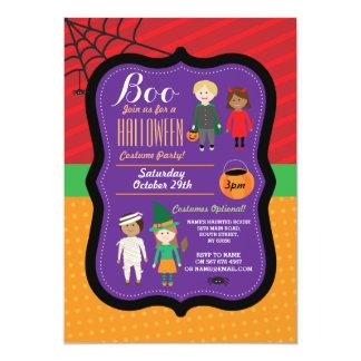 Halloween barns inbjudan för party för dräkt
