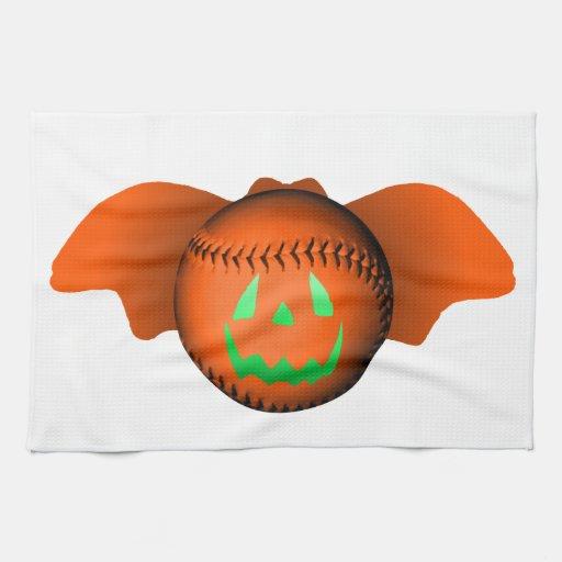 Halloween baseballfladdermöss handukar