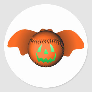 Halloween baseballfladdermöss klistermärken