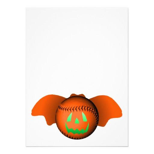 Halloween baseballfladdermöss anpassade inbjudningskort