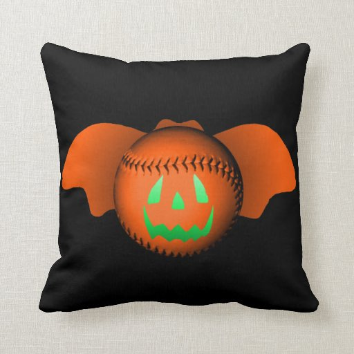 Halloween baseballfladdermöss kuddar