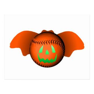 Halloween baseballfladdermöss vykort