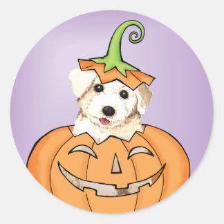Halloween Bichon Runt Klistermärke