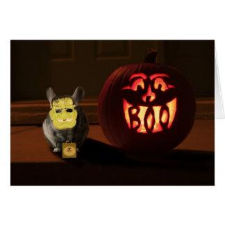 Halloween Chinchilla Hälsningskort