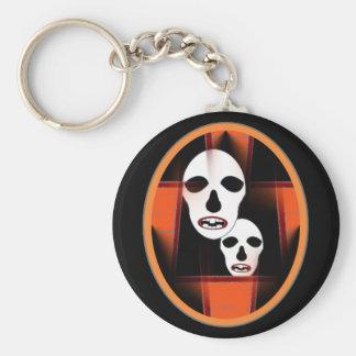 Halloween döskallar rund nyckelring