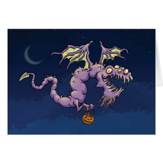 Halloween drakekort - djävulskt bra Halloween Hälsningskort